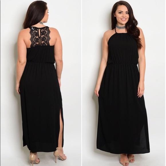 Dresses   Plus Size Black Sleeveless Maxi Dress   Poshmark